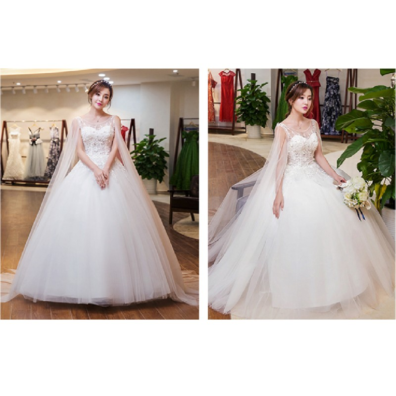 New Style Wedding Dresses 2017 In : New spring summer korean style wide slevee lace wedding dress