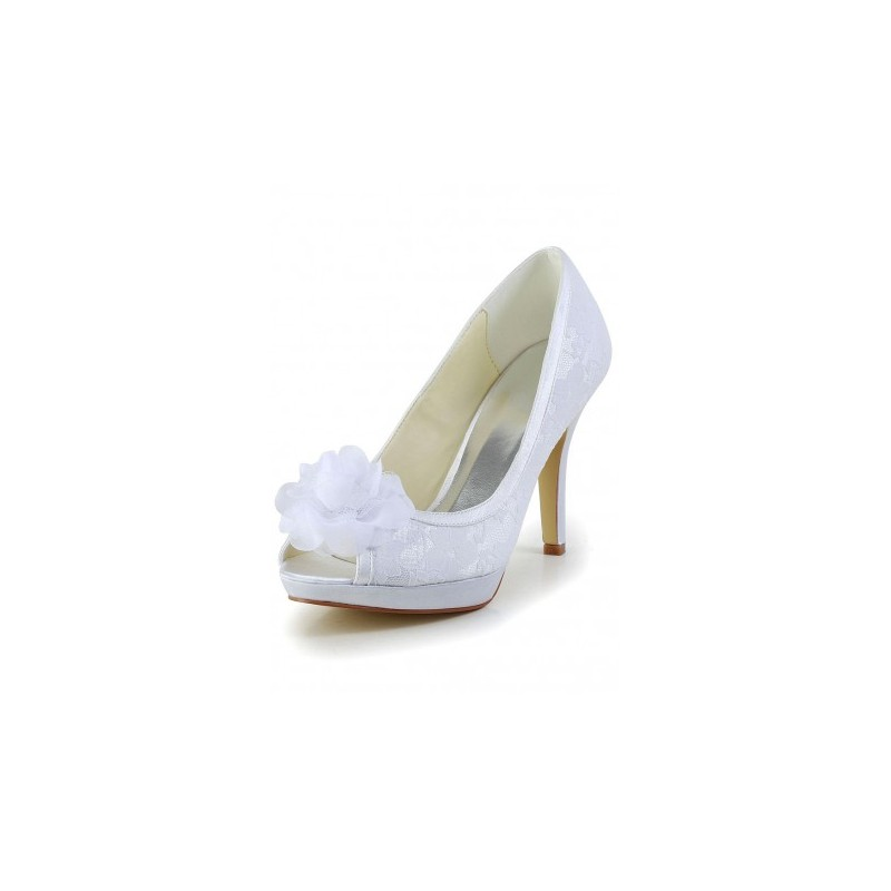 Fashion Bride Bridal Shoes Cecelia Flower Lace Weddin