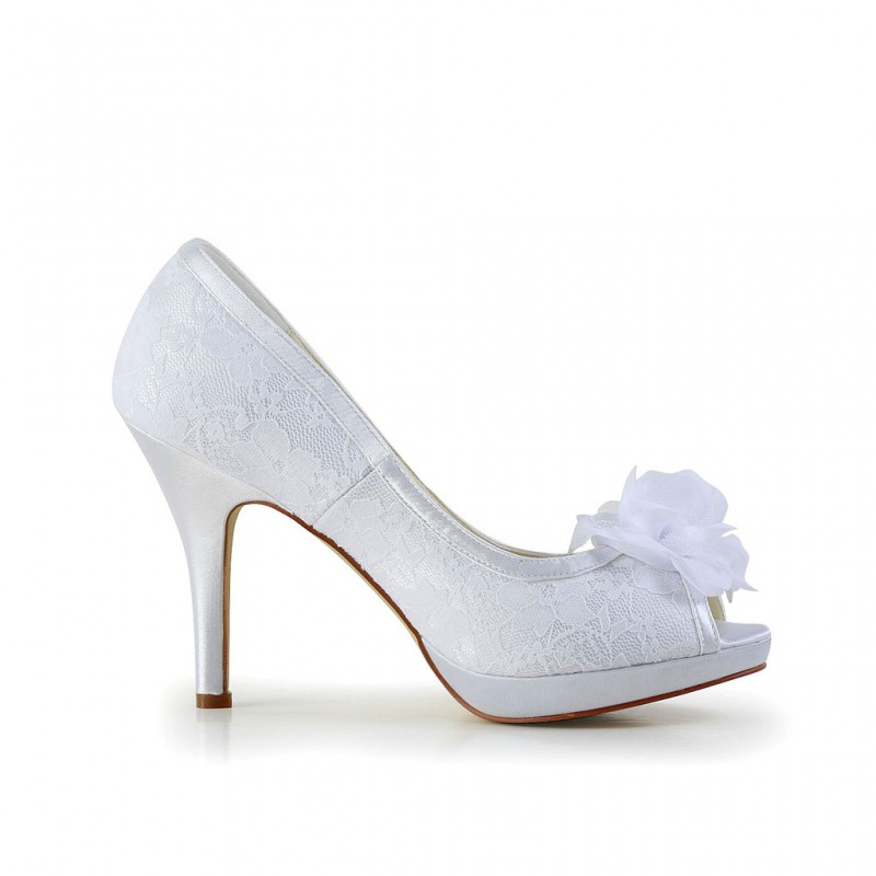 Cecelia Flower Lace Wedding Shoes