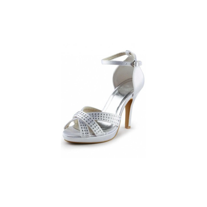 bride bridal shoes slingback strappy crystal wedding shoes