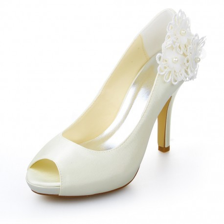 Kady Flower Basic Platform Wedding Shoes