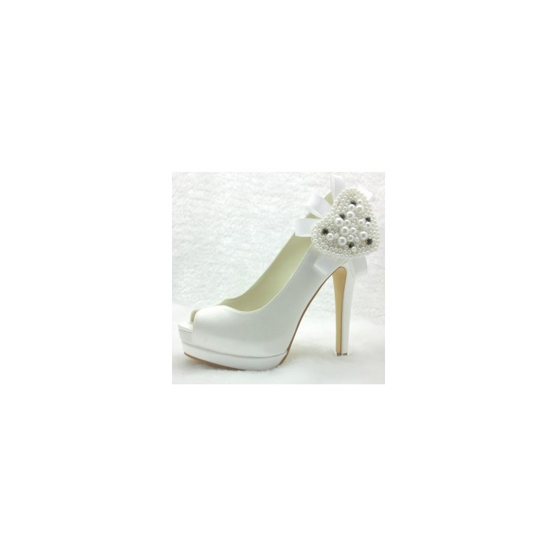 Rodine peep toe wedding shoes bridal shoes - My peep toes ...