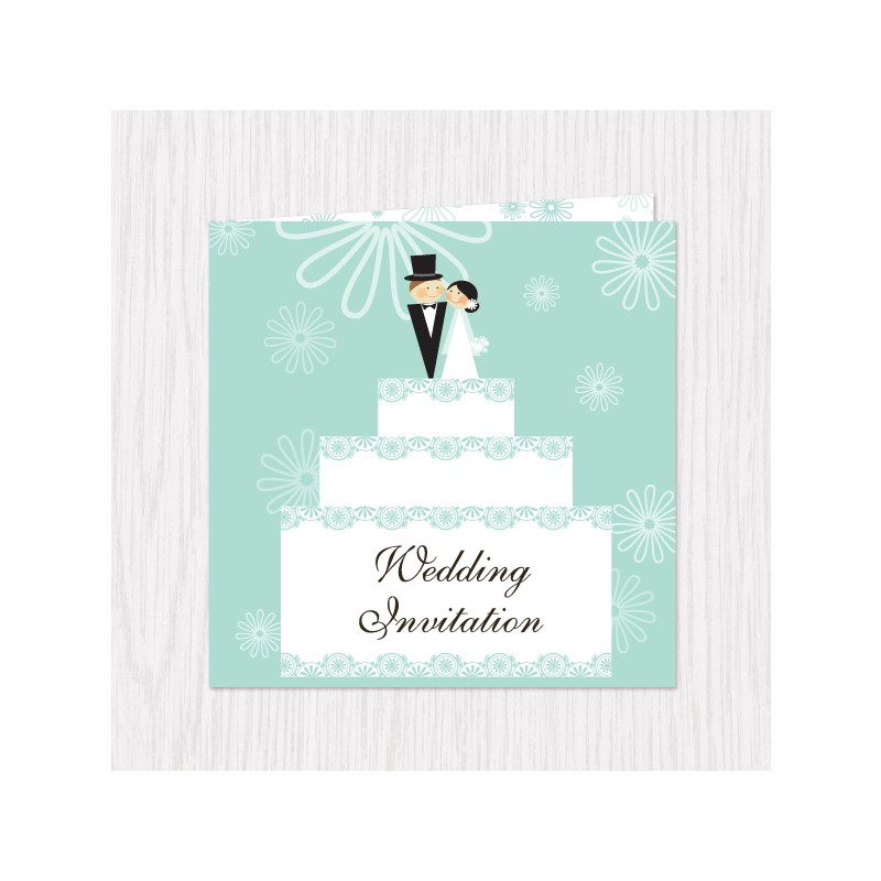 Wedding Gift List Next : Home > Gifts & Cards > Wedding Cake Design Folded Cards - 100 pcs (...