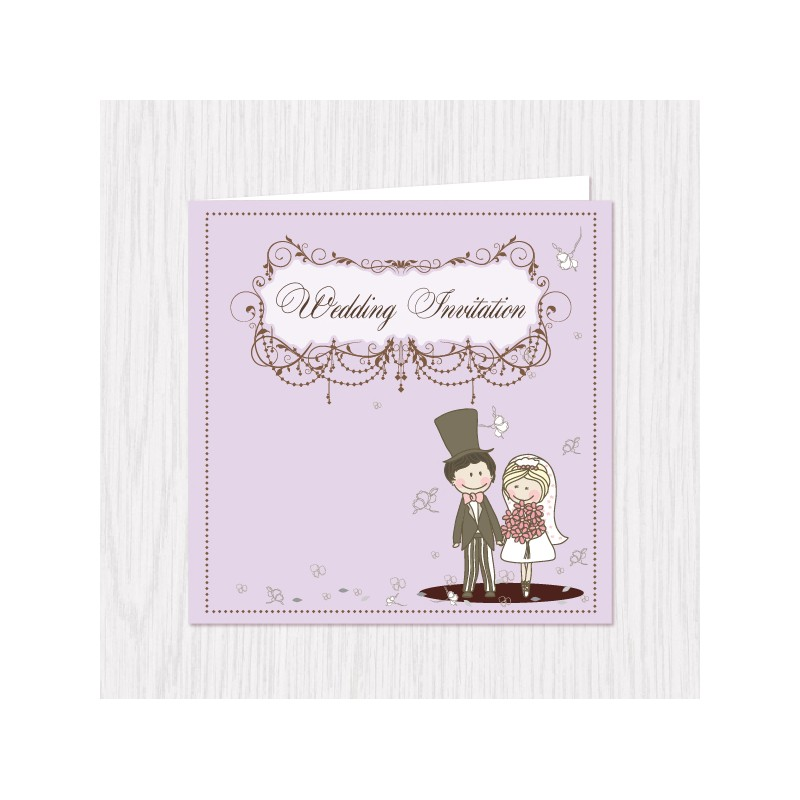 Home > Gifts & Cards > Wedding Couple Pastel Folded Cards - 100 pcs...