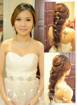 Brilliant Wedding Dinner Bridal Makeup Hair By Desmond Makeup Short Hairstyles Gunalazisus