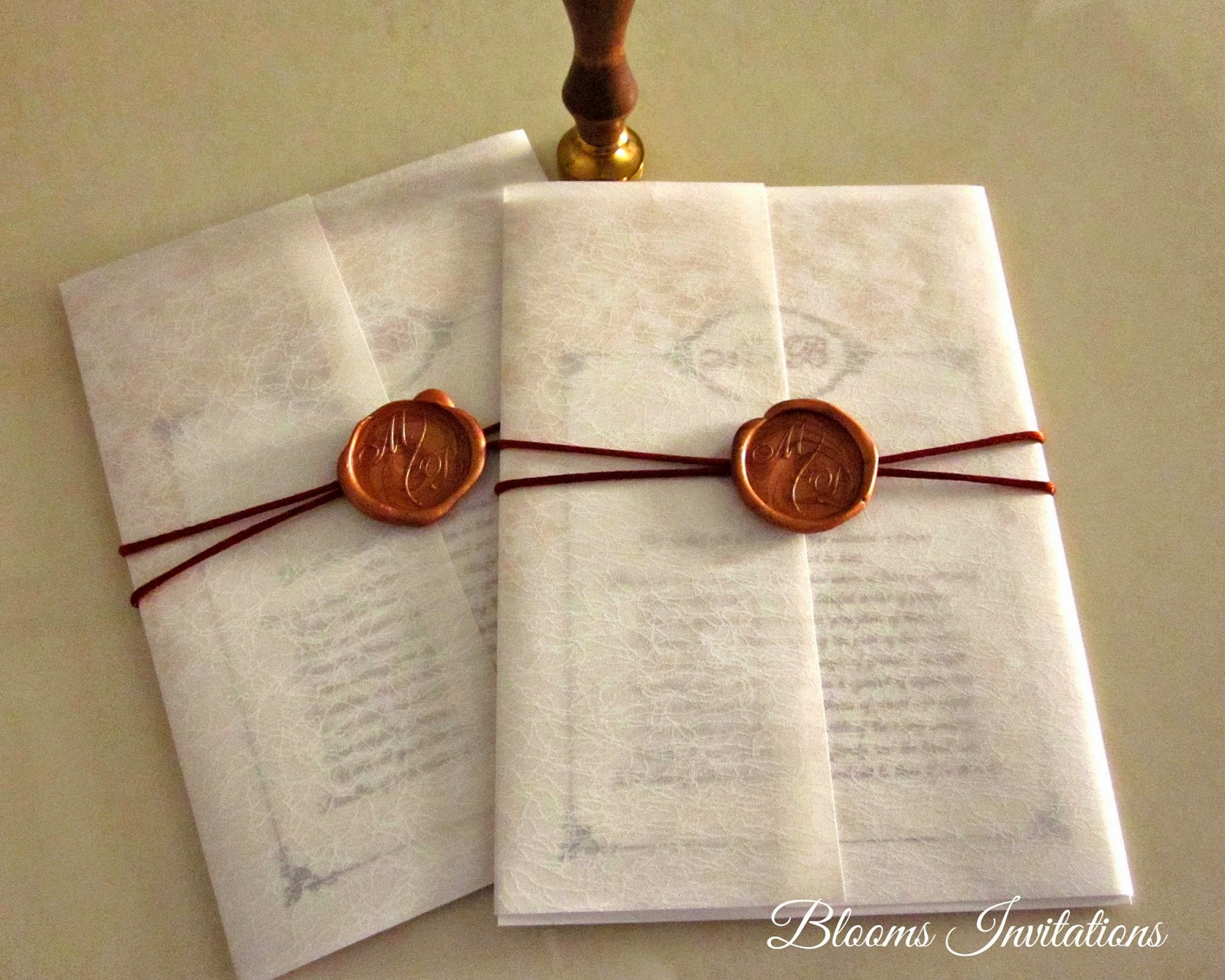 Wax Seals For Wedding Invitations: Wax Seal Wedding Invitation. Cards