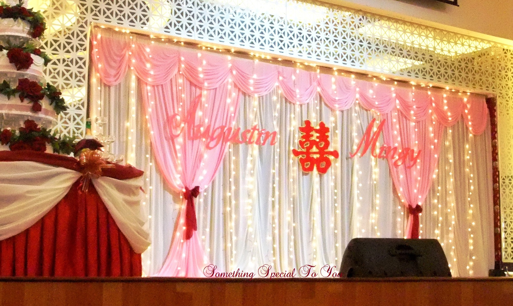 Pink stage backdrop decoration for Background stage decoration